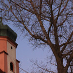 wallfahrtskapelle volkertshaus ziebelturm und baum