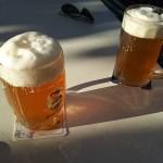selbstgemachtes bier im gruenen baum fleischwangen