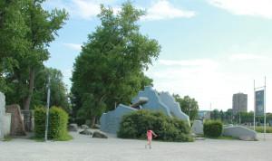 steine im wasser - abenteuerspielplatz vor sealife konstanz