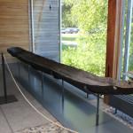 Ausgehöhlter Baumstamm - steinzeitliches Boot federseemuseum