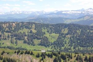 Blick über Alpen vom Hochgrat