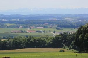 Blick über das Schussental von Aulendorf Ebisweiler