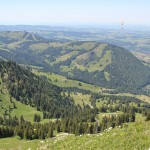Blick auf Berge vom Hochgrat