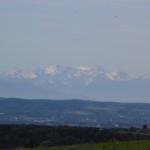 Blick zu den Alpen- Aussichtspunkt Aulendorf