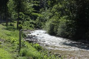 Fluss an der Talstation des Hochgrat