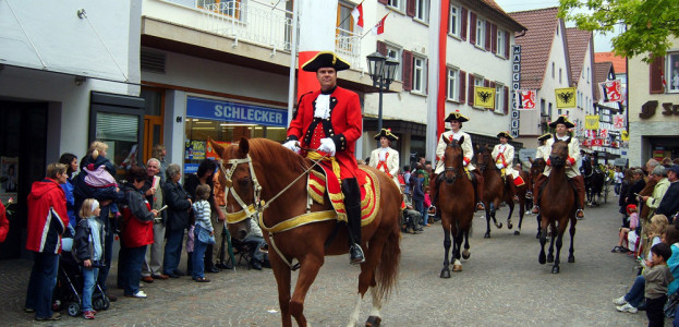 Generalauditor auf dem Bächtlefest Bad Saulgau