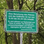 Schild Grillplatz Bad Waldsee Steinach