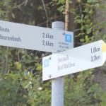 Schild nach Reute Wanderweg