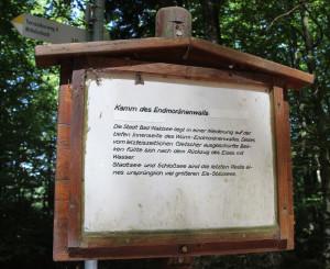Infoschild Waldlehrpfad Tannenbühl