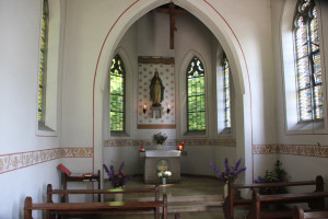 Innenraum der Kapelle Hohkreuz Aulendorf