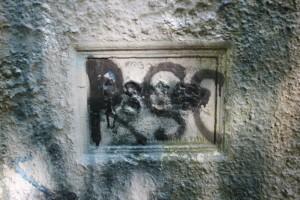 Inschrift Kaiser Friedrich Turm