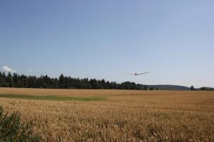 Landeanflug Flugplatz Reute Bad Waldsee