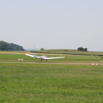 Landung Flieger Flugplatz Reute Bad Waldsee