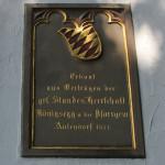Tafel an der Seite der Hohkreuzkappelle
