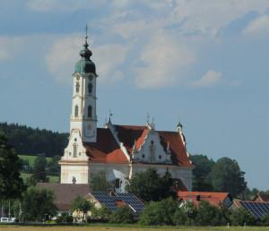 Wallfahrtskirche Steinhausen aus der Nähe