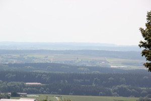 Blick vom Burgturm Bussen Oberschwaben