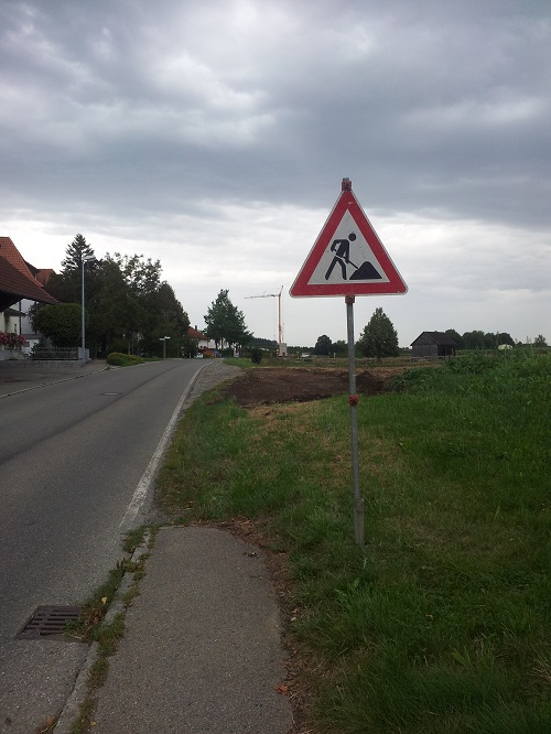 Fahrradweg Bad Waldsee Michelwinnaden wird gebaut