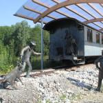 Figuren der Schwäbischen Eisenbahn - Bahnhof Durlesbach
