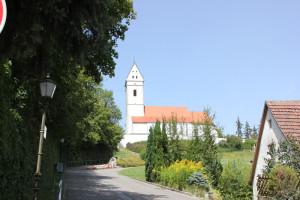 Kirche des Bussen Oberschwaben beim Aufstieg