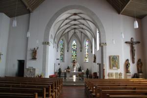 Kirche innen Bussen Oberschwaben