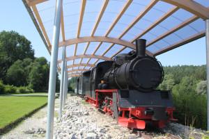Lok auf dem Bahnhof Durlesbach