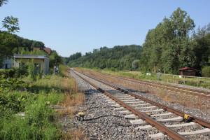 Neuer Schienenverlauf neben Bahnhof Durlesbach