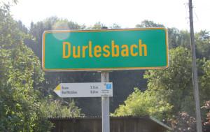 Ortsschild Durlesbach