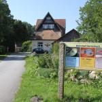 Schild Lichtwerk Bahnhof Durlesbach