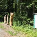 Skulpturen beim Bahnhof Durlesbach
