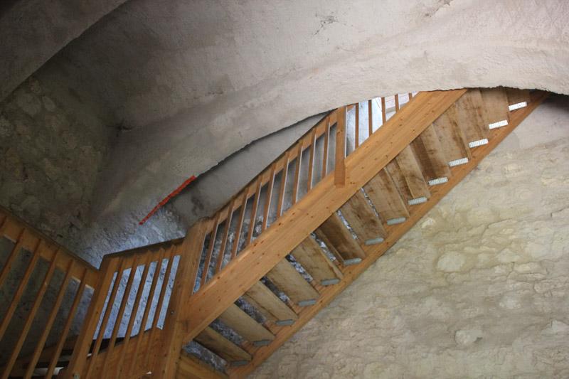 Treppenaufgang der Burg Bussen Oberschwaben