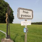 Schild zur Grabener Höhe