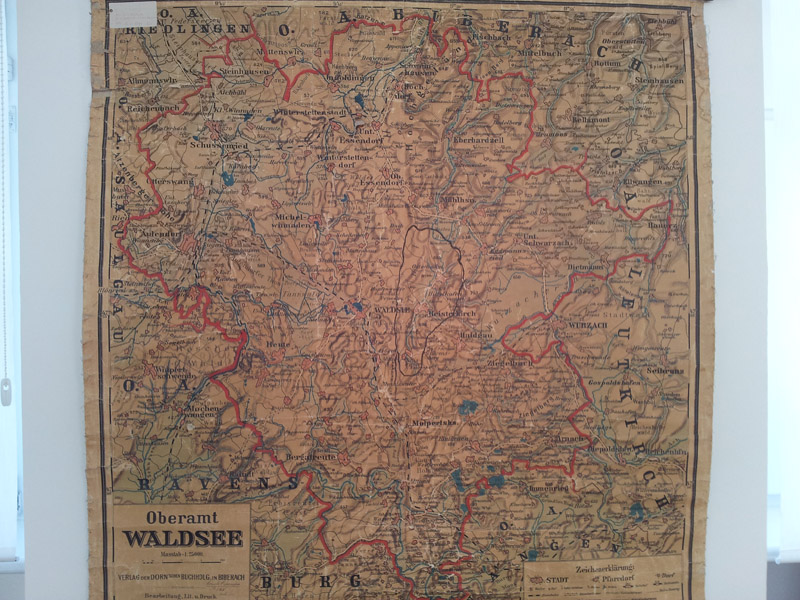 alte Karte Waldsee