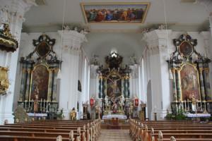 Innenraum Kirche Unteressendorf