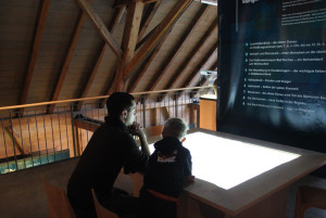 Multimedia Tisch Römermuseum Mengen Ennetach