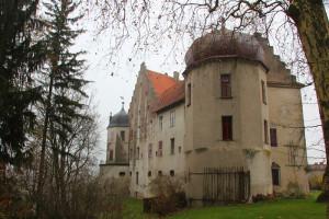 Seite des Schloss Warthausen