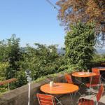 Biergarten mit Ausblick auf Ravensburg