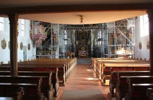 Innenraum Kirche Bergatreute