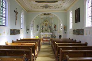 Innenraum Wallfahrtskapelle St. Sebastian