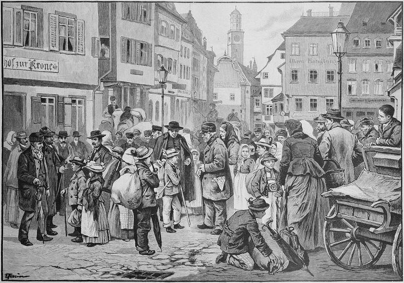 Tiroler Kinder Markt Ravensburg 19 jahrhundert