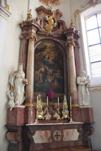 27 rechter Seitenaltar Schlosskirche Altshausen