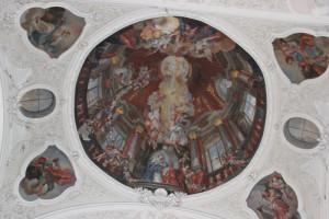 Deckengemälde Wölbung Klosterkirche Weißenau