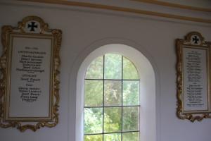 Guggenhauser Kapelle Tafeln Kriegsgefallene
