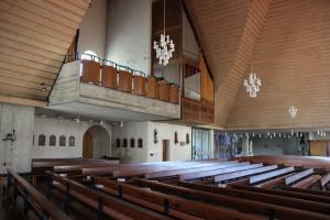Kirchen modernes Querschiff Eberhardzell