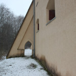 Stütze und Durchgang Burg Königseggwald