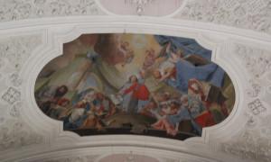 Zentrales Deckengemälde Klosterkirche Weißenau