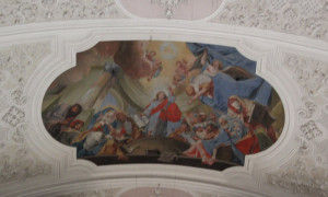 Zentrales-Deckengemälde-Klosterkirche-Weißenau