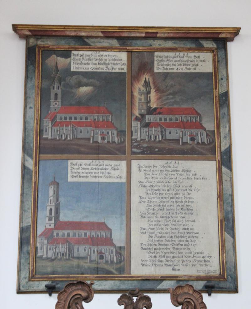 Brandtafel Kirche Biberach