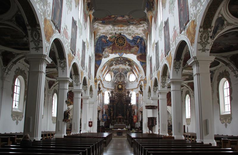 Innenraum Kirche Biberach