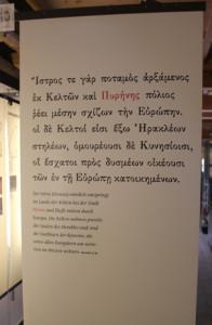 Griechische Aussage zu Kelten