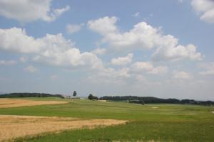 Landschaft Oberschwabens von Berg Danketsweiler